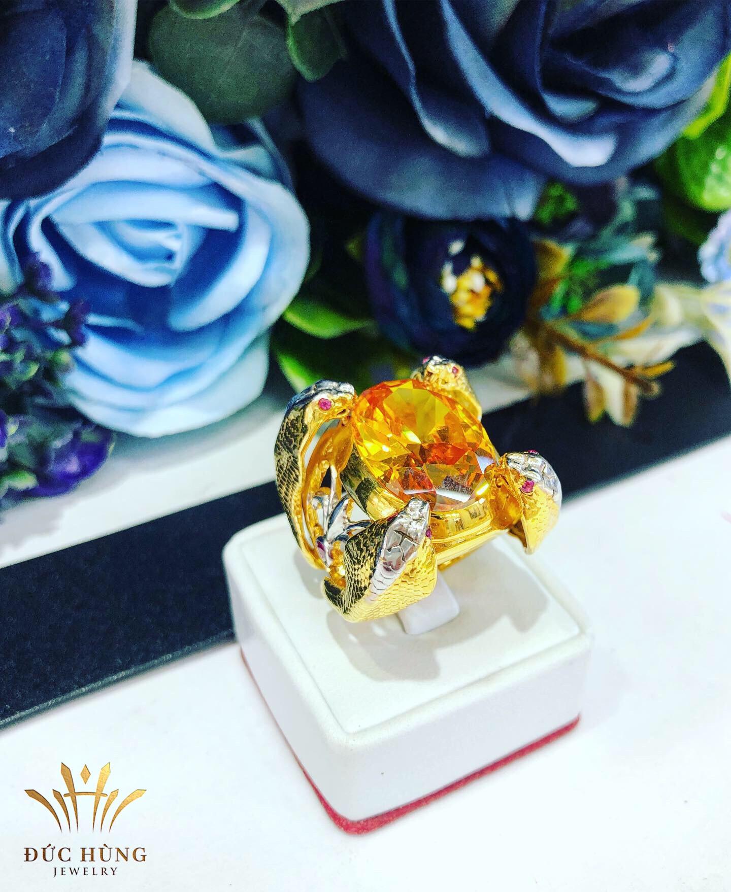 Nhẫn vàng nam mặt đá giá rẻ