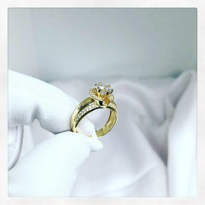 Nhẫn nữ duyên dáng vàng tây