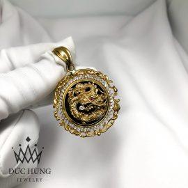 Mặt dây chuyền vàng mặt rồng tròn