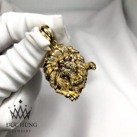 Mặt dây chuyền vàng hình sư tử