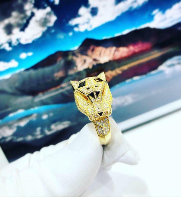 Nhẫn vàng nam mặt hổ đẳng cấp