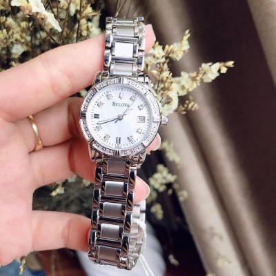 Đồng hồ chính hãng Bulova kim cương viền xung quanh