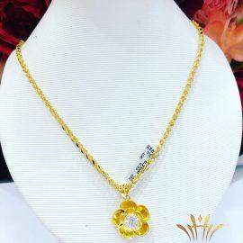 Dây chuyền vàng nữ cánh hoa