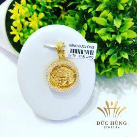 Mặt dây chuyền vàng nữ lưới đính đá