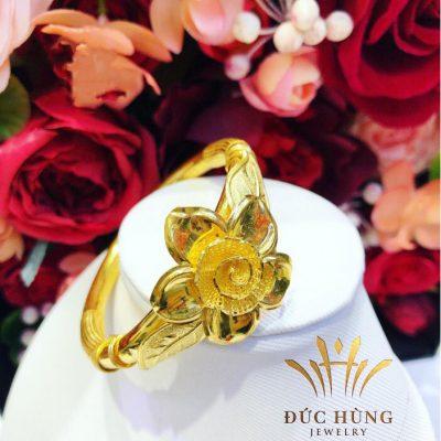 Lắc vàng nữ bông hoa 24k