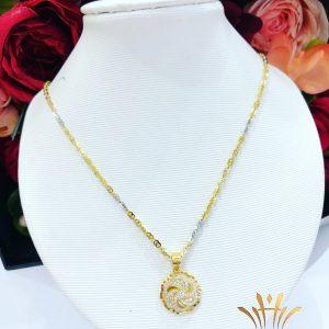 Dây chuyền vàng nữ hoa đính đá