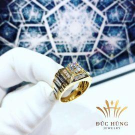 Nhẫn vàng nam đính đá quyền lực