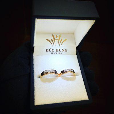 Cặp nhẫn cưới đẹp kim cương