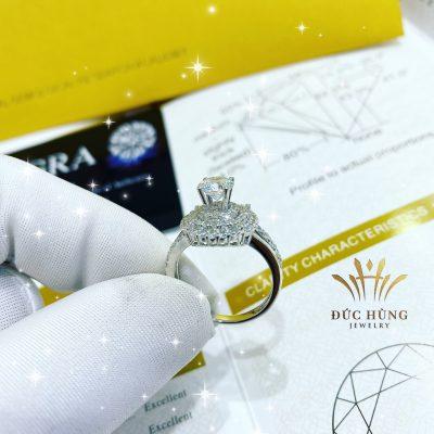 Nhẫn vàng kim cương 18k quyến rũ