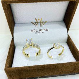Nhẫn cưới vàng đôi 18k lỗng lẫy