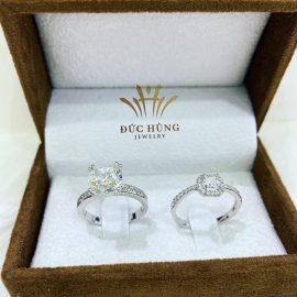 Nhẫn cưới vàng trắng 18k đẹp hấp dẫn