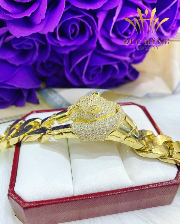 Lắc vàng nam đẹp 10k rắn