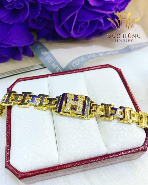 Lắc tay vàng nam 10k chữ H