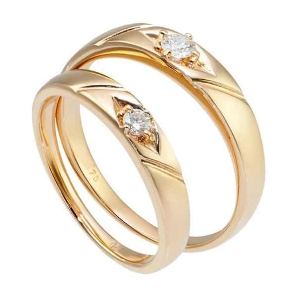 Chọn giá nhẫn cưới 18k cần lưu ý tới màu sắc